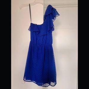 <Xhilaration> Blue One Shoulder Dress